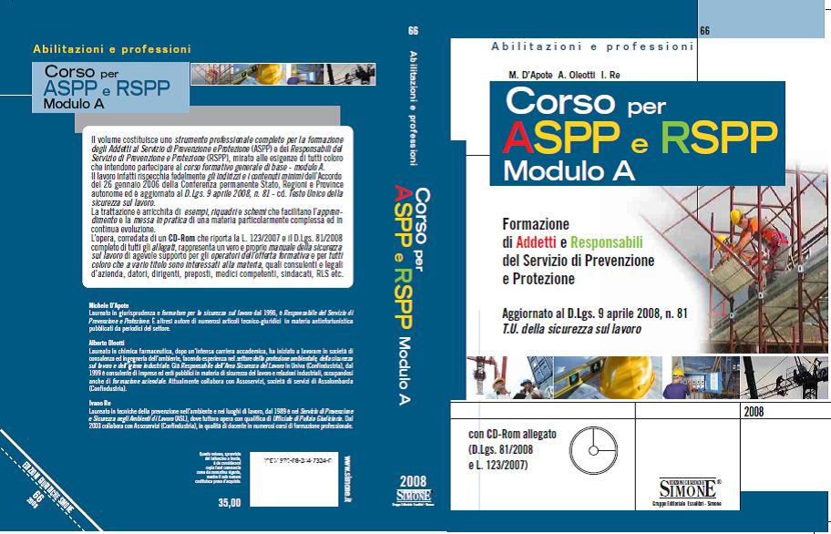 Corso per ASPP e RSPP - Modulo A